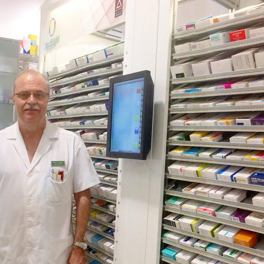 StockLight Blanco Doble Farmacia